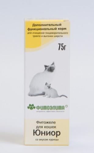 Фитожеле со вкусом курицы Юниор для кошек, 75 г