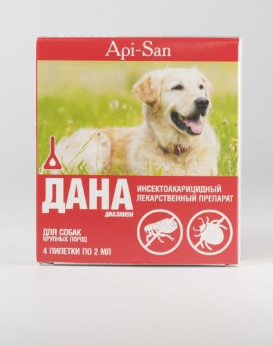 Дана капли для собак крупных пород (2 мл х 4)