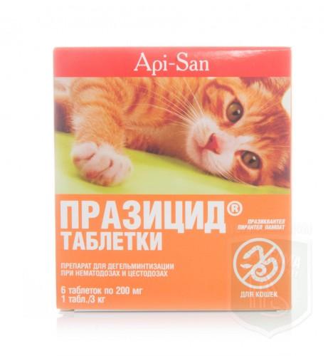 Празицид для кошек, 6 таблеток