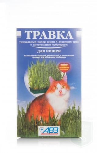 Травка для кошек в лотке