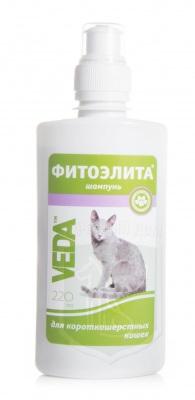 Шампунь Фитоэлита для короткошерстных кошек, 220 мл