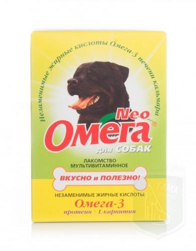 Омега NEOд/собак с протеином и L-карнитином 90табл.