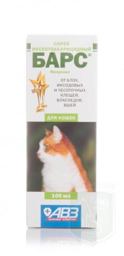 Барс спрей для кошек, 100 мл