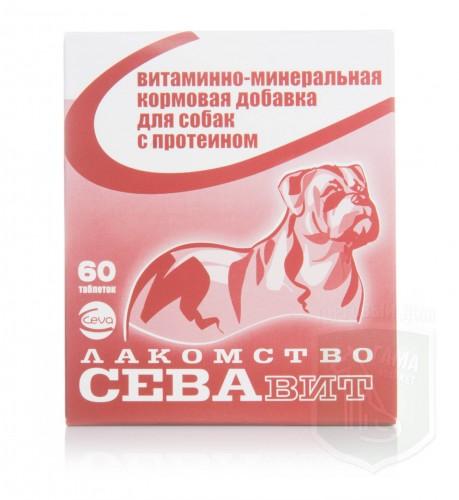 Севавит с протеином для собак, 60 таблеток