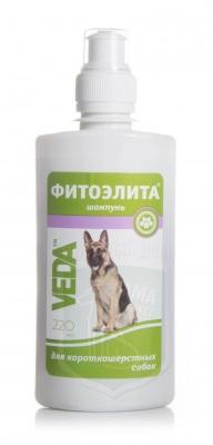 Шампунь Фитоэлита для короткошерстных собак, 220 мл