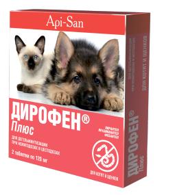 Дирофен Плюс для щенков и котят, 6 таблеток
