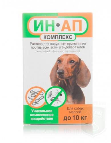 Ин-Ап комплекс для собак и щенков до 10 кг, 1 мл