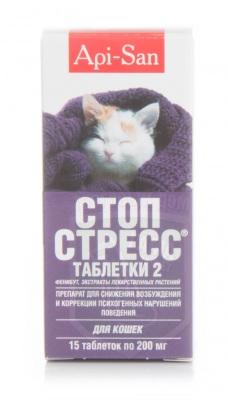 Стоп-стресс, 15 табл. д/кошек