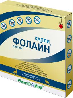 ФОЛАЙН капли д/собак 20-40 кг 2 х 1,5 мл