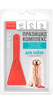 Празицид-комплекс капли на холку д/собак 20-30 кг,1*3.5мл, пипетка /упак 10шт/