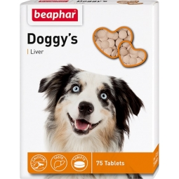 Беафар Витамины д/собак DOGGYS+LIVER, 75 таб (уп/12 шт) 12504