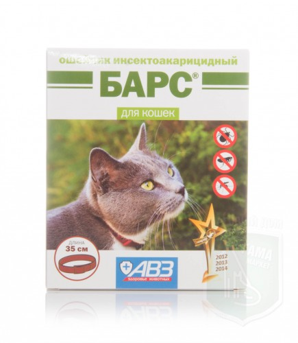 Барс ошейник инсектоакарицидный д/кошек