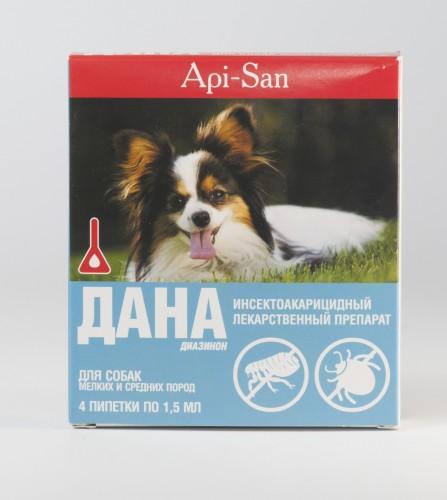 Дана капли для собак средних пород (1,5 мл х 4)