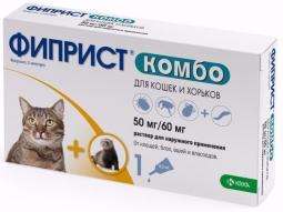 Фиприст КОМБО д/кошек и хорьков, 0.5 мл (1 пип)