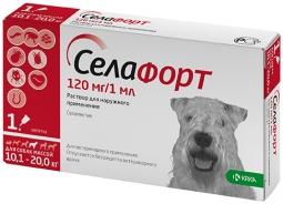 Селафорт капли д/собак 10-20 кг, 120 мг*1 мл