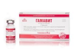 Гамавит, 6 мл (упаковка, 5 флаконов)