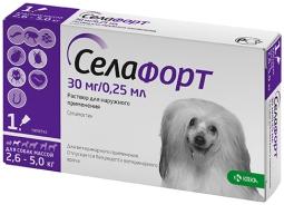 Селафорт капли д/собак 2,6-5 кг, 30 мг*0,25 мл