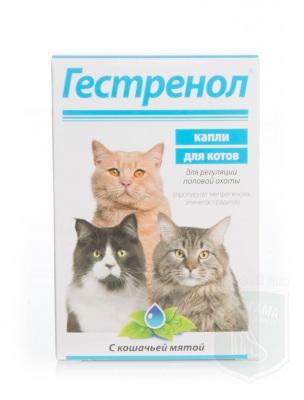Гестренол, для котов с кошачьей мятой, 10 табл