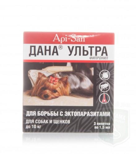 Дана ультра капли для собак/щенков до 10 кг, 3*1,5мл