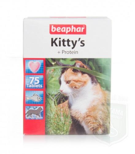 Беафар Витамины KITTYs PROTEIN д/ля кошек 75 таблеток