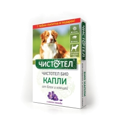 Чистотел Био капли с лавандой от эктопаразитов д/сред и круп собак 2 пипетки
