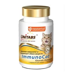 ЮНИТАБС Витамины д/кошек, 120 таб ImmunoCat с Q10 U303 (кор/12 шт)