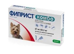Фиприст КОМБО д/собак 2-10 кг, 0,67 мл (1 пип)