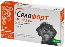 Селафорт капли д/собак 5-10 кг, 60 мг*0,5 мл