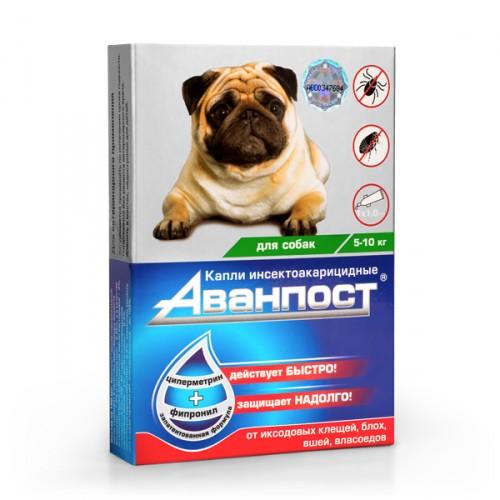 АВАНПОСТ капли на холку для собак 5-10кг