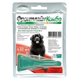 Фронтлайн Комбо для собак 40-60кг (XL) – для защиты от клещей,
