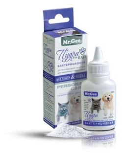 ПУДРА Mr Gee бактерицидная для ЛАП д/собак и кошек, 40 гр