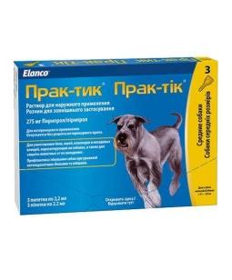 ПРАКТИК 2,2 Капли для собак 11-22 кг, 3 пип