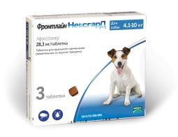 Фронтлайн НексгарД Таблетки д/собак 4-10 кг 28,3 мг, 3 таб