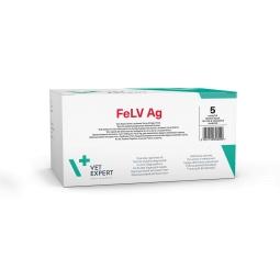 Тест для выявления вирусной лейкемии FelV Ag (5 тестов)