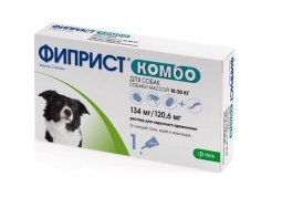 Фиприст КОМБО д/собак 10-20 кг, 1,34 мл (1 пип)