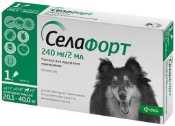 Селафорт капли д/собак 20-40 кг, 240 мг*2 мл