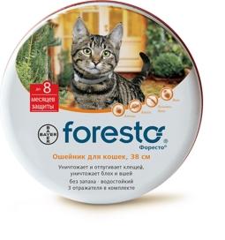 Форесто ошейник для кошек от блох, клещей. С репелентным эффектом