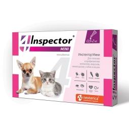 ИНСПЕКТОР Капли д/кошек и мелких собак  0,5- 2 кг Пипетка (фипронил+моксидентин)
