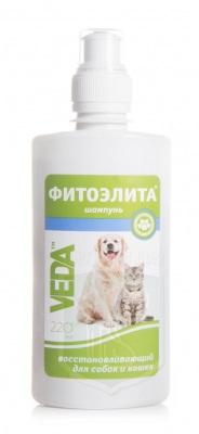 Шампунь Фитоэлита восстанавливающий для собак и кошек, 220 мл