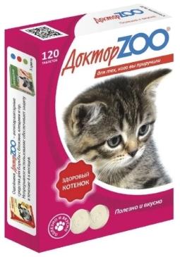 Доктор ЗОО Витамины Здоровый котенок, 120 т (упак/6 шт)
