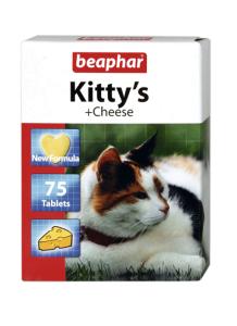 Беафар Витамины KITTYs CHEESE д/ кошек 75 таблеток
