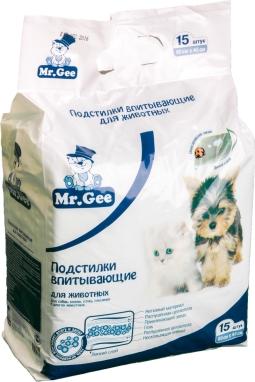 Подстилки впитывающие Mr Gee д/животных на гелевой основе (45х60), 15 шт