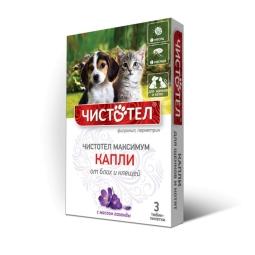 Чистотел Максимум капли д/щенков и котят от блох и клещей /упак 3х1мл/