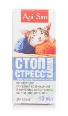 Стоп-стресс капли д/кошек, 10 мл