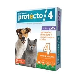 Неотерика Протекто д/кошек и собак 4-10 кг, 2 пип Р302+