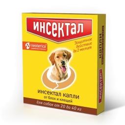 Инсектал Капли для собак 20 -40 кг, 1 пип N104 (уп/10 шт) (кор/60 шт)