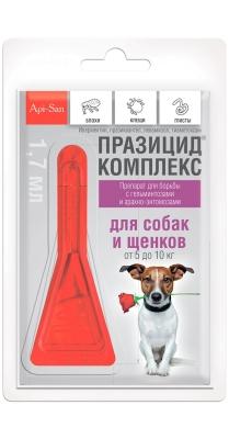 Празицид-комплекс капли на холку д/собак 5-10 кг,1*1мл пипетка  /упак 10шт/