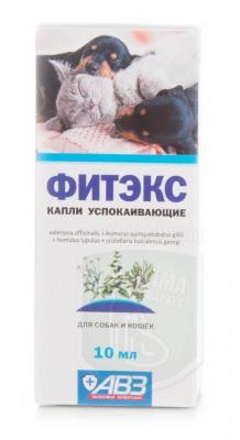 Фитэкс капли успокаивающие для кошек и собак, 10 мл