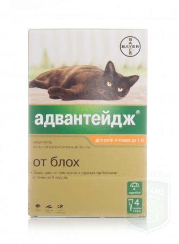Адвентейдж для кошек 40 (0.4 мл х 4)