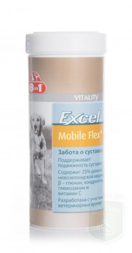 Комплексная добавка д/соб с глюкозамиом Excel Mobile Flex+, 150г